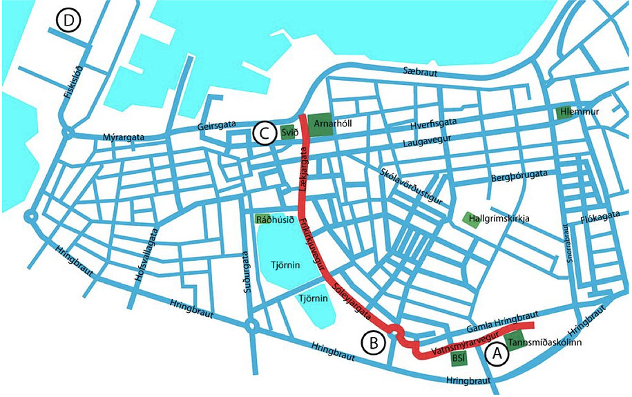reykjavikparade 2005 route